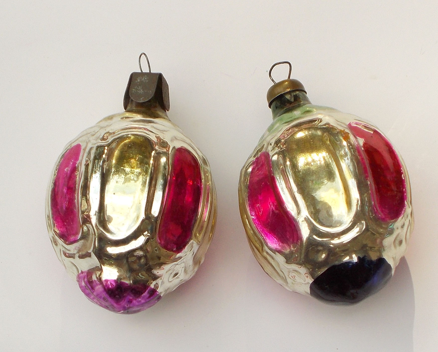 Russia Christmas Ornaments.Details About 2 Antique Old Vintage Russian Silver Glass Ussr Soviet Christmas Xmas Ornaments